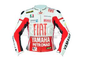 motogp jacket valentino rossi yamaha fiat red racing motogp motocycle leather