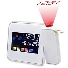 Alarm Clock With Light On Ceiling Projection Alarm Clock Atomic Digital Alarm Clock