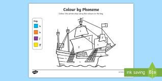 colour phoneme pirate ship phase 2 ff colour