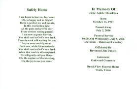 funeral memorial cards memorial service card template