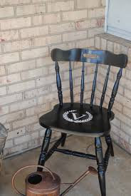 vinyl and spray paint wood chair makeover silhouette