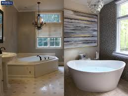 How To Remodel A Small Bathroom Before And After Choosing The Right Bathtub For Your Master Bath Haskell U0027s Blog