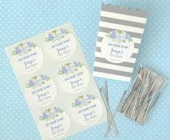 blue watercolor flower baby boy shower theme banner idea