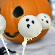 cooking with manuela halloween ghost chocolate cake pops