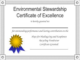 pdf certificate of excellence template