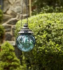 Garden Sphere Balls Garden Oasis 8in Solar Hanging Gazing Ball Blue Shop Your Way