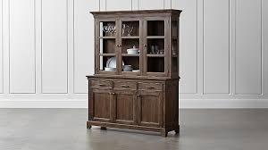 winnetka light mahogany buffet with hutch crate and barrel