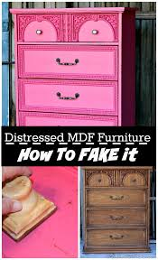 How To Paint Cabinets To Look Distressed Fake A Distressed Layered Paint Look On Mdf Furniture