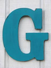 guestbook large wall letters rustic wooden letter g distressed in