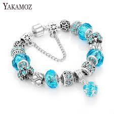 bead bracelet european images Yakamoz european charm beads bracelet bangle authentic crystal jpg
