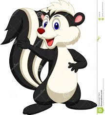 cute skunk cartoon waving hand stock photography image 33235792
