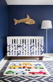 Modern Nursery Rug Navy Dhurrie Rug Contemporary Nursery Domino Magazine