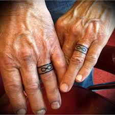 tattoo infinity ring 35 sweet simple wedding band tattoos