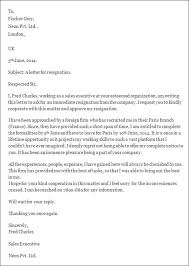 resignation letter template microsoft template examples