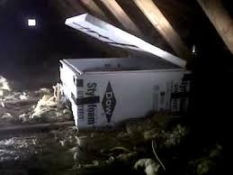 foam board damper on whole house attic fan youtube