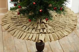 burlap tree skirt ruffled mini christmas tree skirt