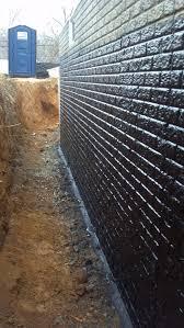 backyard how basement waterproofing diy exterior wall foundation