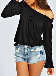 the shoulder black blouse the shoulder tops for cheap price