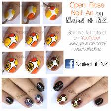 romantic roses nail art youtube art how to rose nail tutorial