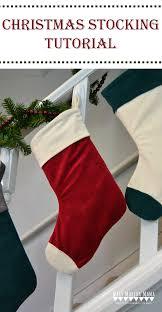 cuffed christmas stocking tutorial u2013 mary martha mama