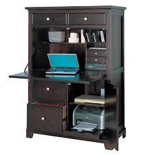 furniture classy corner espresso computer armoire plus shelve and