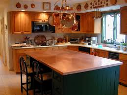kitchen island countertop copper kitchen island countertop custom
