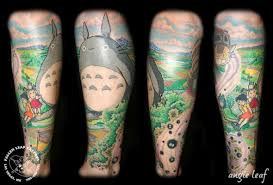 cool cartoon tattoos my neighbor totoro tattoo by angela leaf tattoos