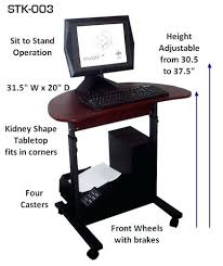 desk adjustable standing computer desks stand up computer desk