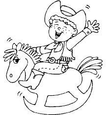 cowboy coloring pages 3 coloring pages print