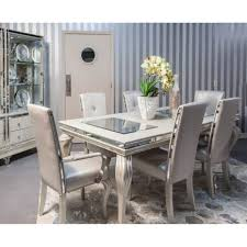 michael amini dining room furniture hollywood loft frost 8 pc dining set by michael amini table 6