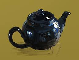 teapot sketch in digital pastel thousand sketches