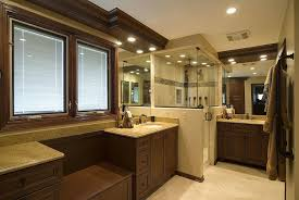 small bathroom with fitted furniture and led lights fitted