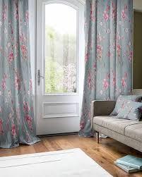 Seville Curtains Seville Blossom Slate Curtains
