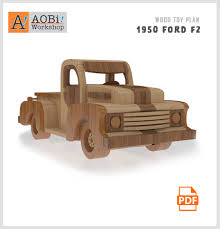 wooden pickup truck 1950 ford f2 truck plan set u2013 aobi workshop