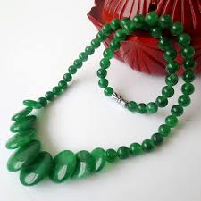 beaded stone necklace images Natural green stone beaded necklace cool statement necklace jpg