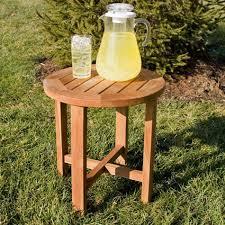 Teak Side Table Holley Teak Outdoor Side Table Teak Rounding And Teak Wood