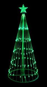 christmas decorations light show amazon com northlight 6 ft red led light show cone christmas tree