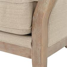exposed wood frame sofa deanne rustic beige clay exposed frame sofa kathy kuo home