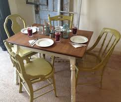 wood polyester ladder yellow solid oak kitchen table and chairs