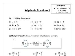 algebraic fractions worksheet tes with resume sample with
