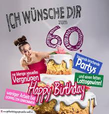 glückwünsche geburtstagskarte 60 geburtstag mit torte - 60 Geburtstag Lustige Spr Che