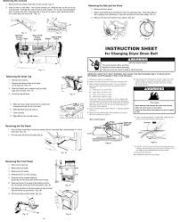 Clothes Dryer Troubleshooting Kenmore Kenmore Electric Dryer Parts Model 11062922100 Sears Partsdirect