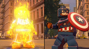 lego marvel u0027s avengers human torch captain america coop
