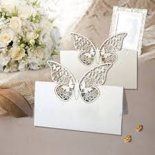 48 pack laser cut butterfly vine wedding table number name place