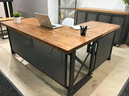 Modern Desk L Industrial Office Desk The Industrial L Shape Office Desk Large