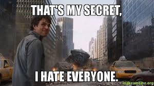 I Hate Everyone Meme - that s my secret i hate everyone people ask me why i treat