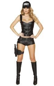 girls halloween costums amazon com faux leather swat halloween costume clothing