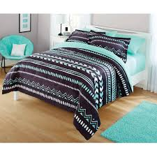 Blue Bed Set Your Zone Tribal Bedding Comforter Set Walmart Com Teen