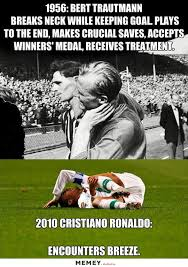 Soccer Hockey Meme - cristiano ronaldo injured memey com