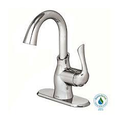 moen single hole 1 handle high arc bathroom faucet in chrome with